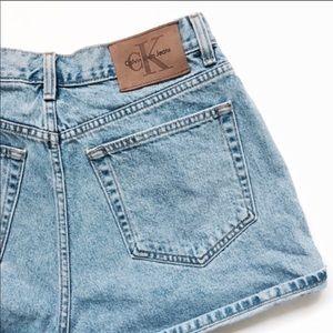 Vintage Calvin Klein Light Wash Denim Shorts